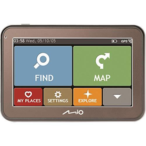 Mio GPS Navigationsgerät für Auto, Grau Space Spirit FEU (Generalüberholt)