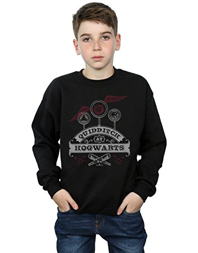 Harry Potter Jungen Quidditch at Hogwarts Sweatshirt 9-11 Years Schwarz