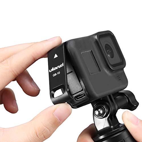 G8-10 Cubierta de batería de plástico para GoPro Hero 8, agujero de...