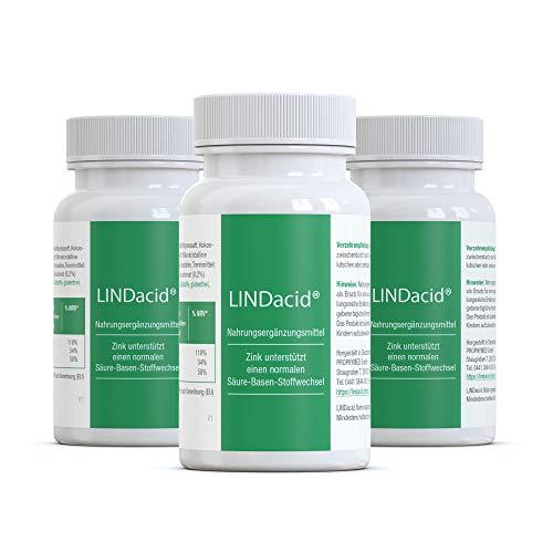 LINDacid ® de gezonde basistabletten (150 stuks) - met calcium, magnesium & zink. Met name het zink zorgt voor een goede zuur-base balans in het lichaam, met gedroogd aardappelsap, 100% veganistisch