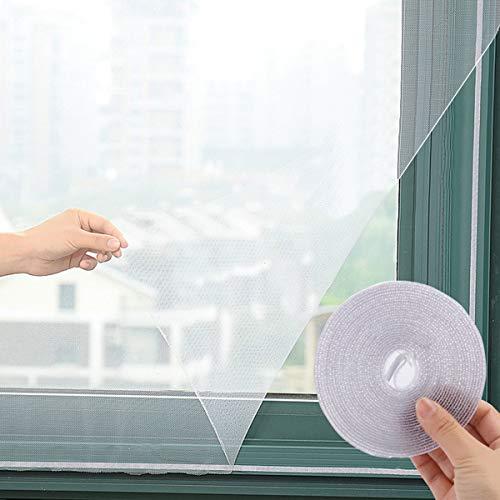 BigBig Style 3 Pack Screen Repair Kit 3 Rolls Zelfklevende Waterdichte Glasvezel Afdekkende Draadgaas Reparatie voor Venster Scherm en Scherm Deur Tranen Gaten, Wit Medium Kleur: wit