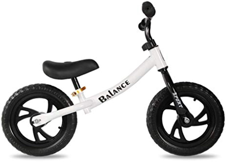 HYYQG Kinder Laufrad,12 Zoll Keine Pedale Leicht Kinder Erstes Fahrrad FüR Kinder MDchen Junge Von 3-8 Jahren,Nicht Aufblasba Schaumreifen Mit Verstellbarem Lenker Sattel-Wei