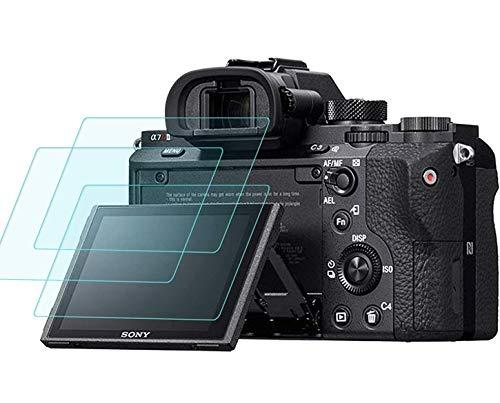 Pellicola protettiva per display per Sony Alpha a7RIII A7R3 A9 A7II A7RII A7SII A7R Mark II fotocamera, Masstimo 3 confezione LCD pellicola protettiva in vetro temperato per