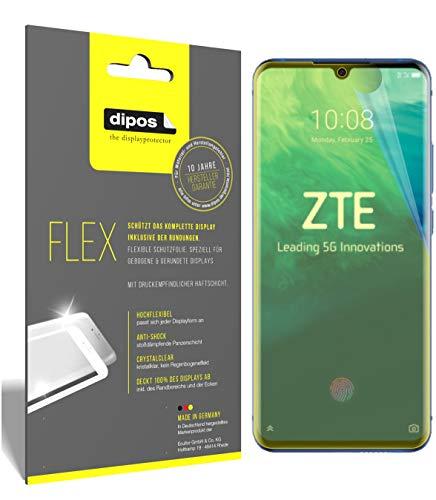 dipos I 3X Schutzfolie 100prozent passend für ZTE Axon 10 Pro 5G Folie I 3D Full Cover Bildschirmschutzfolie