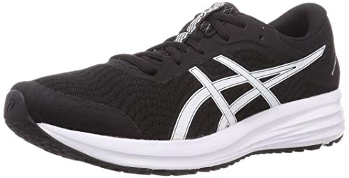 ASICS Damen Patriot 12 Road Running Shoe, Black/White, 42 EU