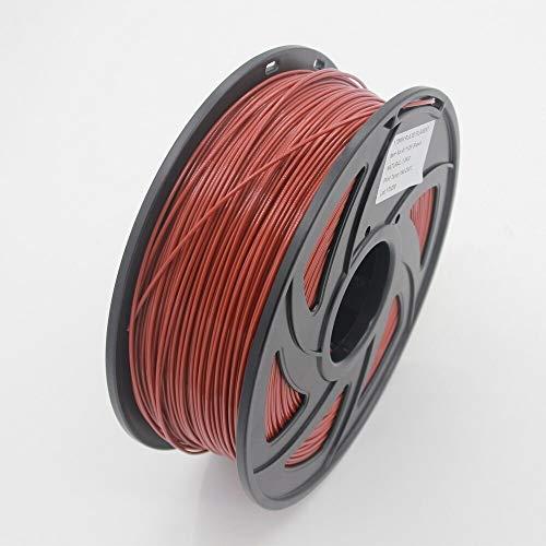 NO LOGO LSB-3D-Druck, 1pc 3D-Drucker 1KG 1.75mm PLA Filament Druckmaterialien bunt for 3D-Drucker Extruder Pen Regenbogen Kunststoff Zubehör Rot Grau (Farbe : Brown)