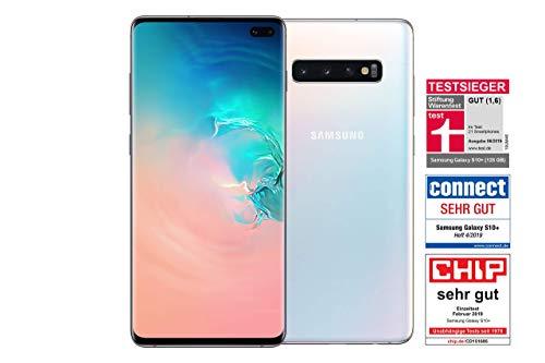 Samsung Galaxy S10+ Smartphone (16.3cm (6.4 Zoll) 128GB interner Speicher, 8GB RAM, Prism White) - Deutsche Version (Generalüberholt)