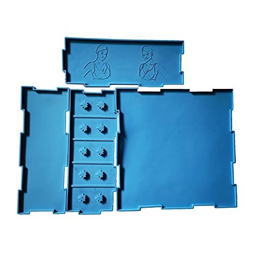 ESTone 1 Unidades sujetador organizador resina epoxi molde ropa interior Brassiere caja de almacenamiento molde de silicona DIY manualidades herramienta de fundición