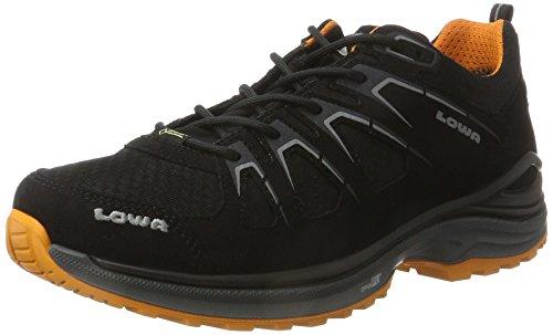 Lowa Herren Innox Evo GTX Lo Wanderstiefel, Schwarz (Schwarz/orange), 42 EU
