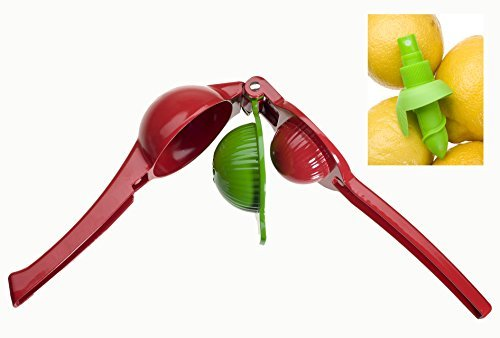 Bright Red Manual Juicer/Citrus Juicer. Juicing with a Lemon Juice Press - Healthy Eating Made Fun and Easy with an Enameled Aluminum Juice Maker