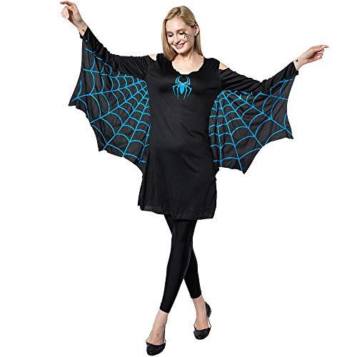 EraSpooky Damen Spinne Kostüm Faschingskostüme Cosplay Halloween Party Karneval Fastnacht Kleid für Erwachsene