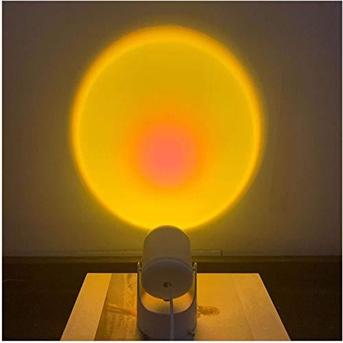 Luz del piso de proyección del atardecer, proyector de luz nocturna Lámpara LED, lámpara de proyección de rotación de 90 grados, lámpara de proyección de arco iris, luz romántica LED luz de la luz de