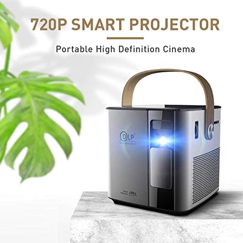 Video Projector, CACACOL SD300 LED Projector 2800 Lumens Movie Projector Support 1080P HD for Home Theater Cinema Projector Small Business Presentation Game TV Movie (Black)