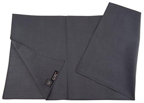 TigerTie Damen Nickituch Halstuch in anthrazit grau einfarbig Uni - Tuchgröße 60 x 60 cm - 100% Baumwolle