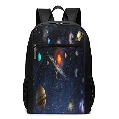 ZYWL Solar System Mystery Galaxy Nebula Space Universe Utra-Premium Mochila para portátil de Viaje de 17 Pulgadas, Bookbag, Business Bag