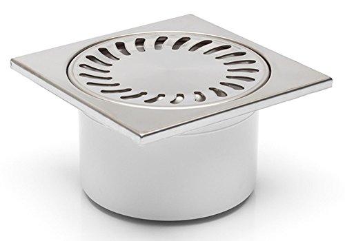 Bodenablauf-Duschablauf in Edelstahl-150x150mm - DN 50/84N - Geruchsverschluß - (321-N)