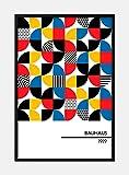 Bauhaus 1919 decoración de imagen de arte de pared retro...