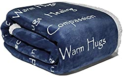 Wolf Creek Blanket Compassion Blanket - Cancer Gift Blanket Get Well Gift Women Men Warm Hugs Healing Thoughts Positive Energy Courage Soft Fluffy Comfort Caring Throw