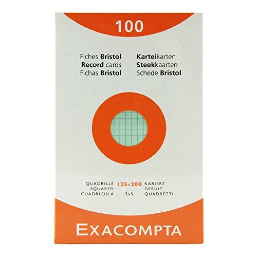 Exacompta Index Cards 5X8 Inch, 100 Pack, White,