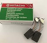 Véritable Balais de Carbone Hitachi 999073 pour H45FRV H45MRY D13 DH40FR DH40MRY DH30PC2 DH40FA H45MR DH40MR DH30PC DH30PB DH38YE CR12V D13Y D13YA Marteau Perforateur HT3G