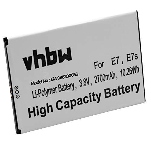 vhbw Akku kompatibel mit Blackview E7, E7s Handy Smartphone Handy (2700mAh, 3,8V, Li-Polymer)