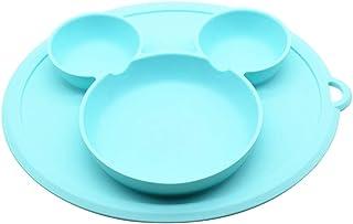 Silicone De Qualit/é Alimentaire En Forme de Nuage Antid/érapant Table Pliable Plateau Alimentaire R/ésistant /À La Chaleur Vaisselle Napperon Plaque Coriver 4 PCS Enfants Napperons Rose+Bleu+Vert+Gris