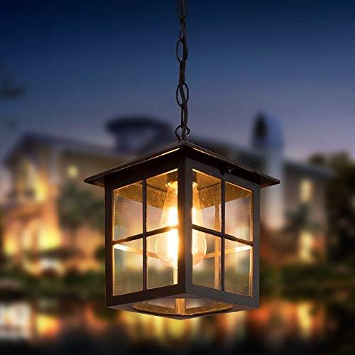 Ailtb Industrial europea al aire retro impermeable de techo de la lámpara pendiente Terraza Pergola Gazebo colgante de cristal E27 Edison patio de entrada de la puerta del pórtico de la lámpara del ac