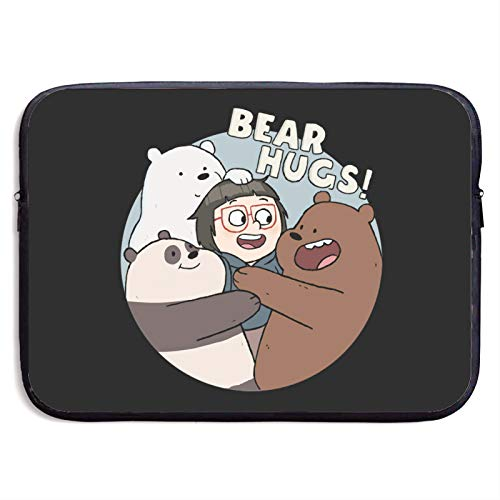 We Bare=Bears Laptop Sleeve Bag 13/15 Inch Notebook Computer, Water Repellent Polyester Protective Case Cover Theme Design Laptop