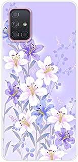 Urhause Transparente Funda Compatible con Samsung Galaxy A71 Carcasas Diseño Color Dibujo Case Ultrafina Suave Silicona TP...