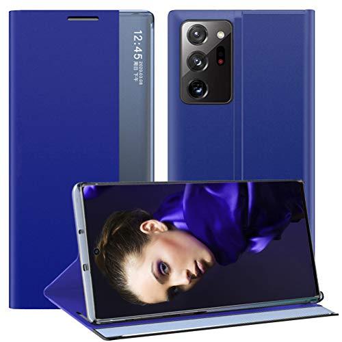 Croazhi Handyhülle Kompatibel mit Samsung Galaxy Note 20 Ultra 5G Hülle Schutzhülle Leder Klapphülle Flip Hülle Original Clear View Cover 360 Grad Stoßfest Tasche für Galaxy Note20 Ultra 5G Handy