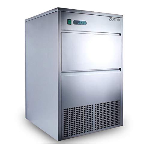 ZORRO - Eiswürfelbereiter ZEB 50 ECO - Gastro - 50kg/24h- Eiswürfelmaschine mit Edelstahlgehäuse