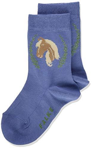 FALKE Unisex Kinder Horse K SO Socken, blau (Smoky Blue 6045), 31-34 (7-9 Jahre)