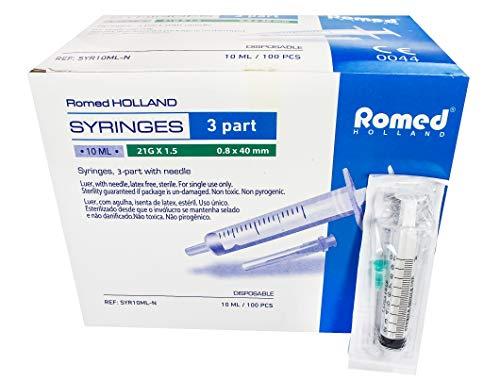 Medi-Inn Spritzen-Set für Hobby Heimwerken 100 Stück steril Set (Spritze-Kanüle) steril verpackt (10 ml)