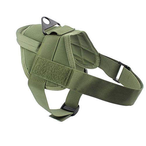Homeilteds Tactical Hundeweste Jagd Military K9 Harness Trainings Haustiere Weste Water-Resistant Trainingsgeschirre for Service-Hund Waistcoat (Color : Green)