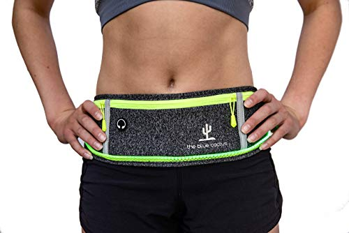 IllumiBelt- Premium Running Belt for Phone Illuminated Waist Bag- LED Rechargeable Safety Light Provides Visual Safety with 3 Modes- Ultra Lightweight Phone Holder for Running