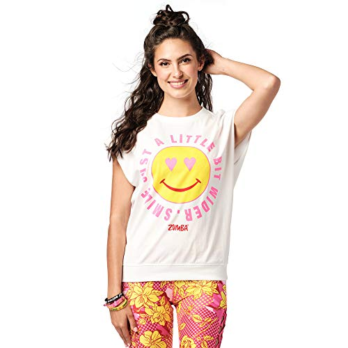 Zumba Sexy Active Wear Mujeres Dance Tops Entrenamiento Open Back Camisas para Mujer, Wear It Out Blanco 0 - blanco - Small
