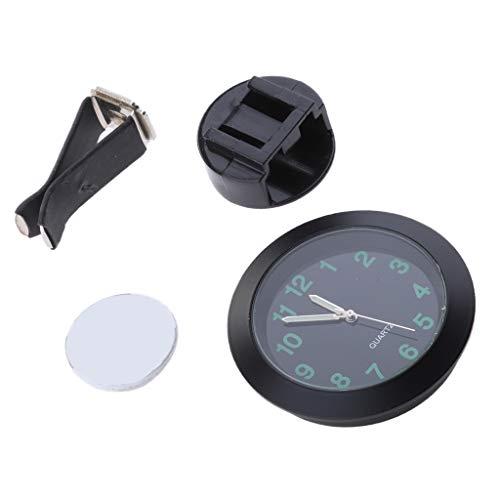 Sharplace Horloge de Voiture Support Tableau de Bord Mini Véhicule Ventilation Numérique - Noir