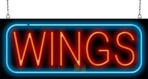 Wings Neon Sign - Large Size 32
