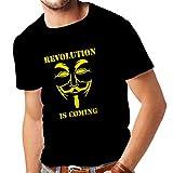 lepni.me Camisetas Hombre La Revolución se Acerca Hackers Anónimos Legión V...