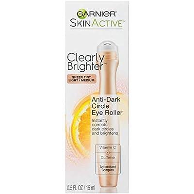 Garnier SkinActive Clearly Brighter Sheer Tinted Eye Roller, Light/Medium, 0.5 Fl Oz by Garnier Skin