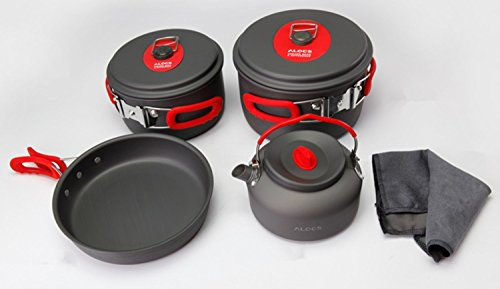 ALOCS コッへル・クッカーセット 3-4人キャンプ鍋アウトドア鍋調理器具