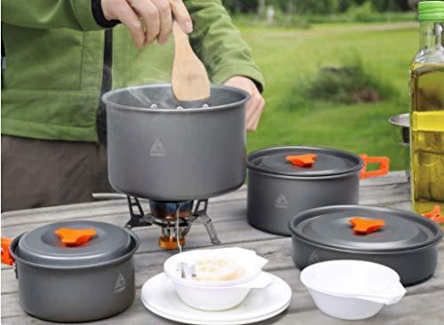 'N/A' Juego de utensilios de cocina al aire libre multijugador al aire libre Estufa Camping Pot Batería de cocina portátil Picnic Utensilios de cocina