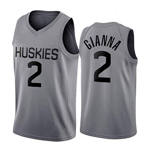 FGRGH Kobe Daughter Gigi 2 # Jersey para hombre, 2021 Conmemorar Juventud Swingman Jerseys, transpirable y resistente al desgaste Camisas deportivas gris-XL (85 ~ 95 kg)