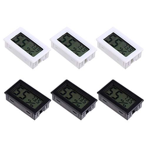 ULTECHNOVO 6 Stück Mini Digital Thermometer Hygrometer Home Drahtlose Elektronische Temperatur Feuchtigkeitsüberwachung für Büro Babyzimmer Gewächshaus Reptil