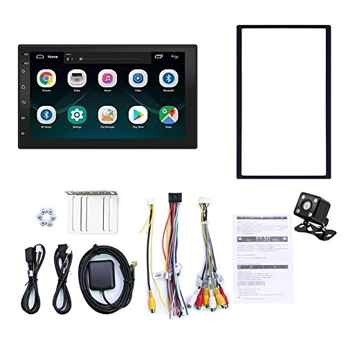 2 DIN Android 8.1 Autoradio Mit Navi 7 Zoll Bildschirm Unterstützt Bluetooth USB Android Auto WiFi Auto Unterhaltung Multimedia Radio Mit Mirrorlink Für IOS/Android Phone, Rückfahrkamera