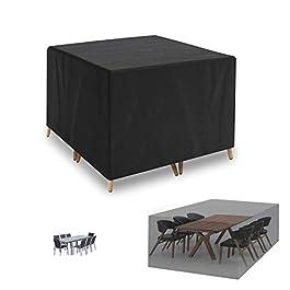 Housse de protection pour meubles de jardin en rotin 420D en tissu Oxford très résistant pour ensemble de meubles de…