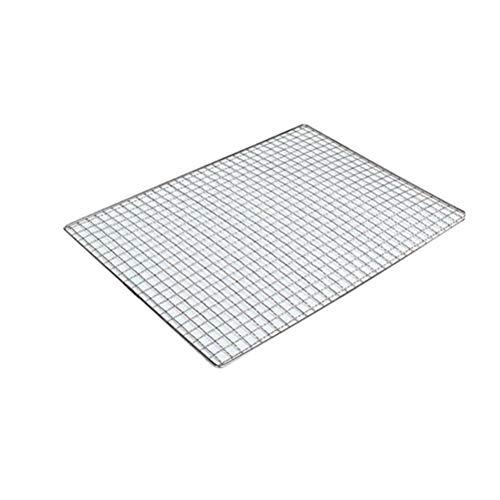 Bestonzon Grillrost Edelstahl Grillnetz Quadrate Löcher Grillgitter Drahtgitter für BBQ Kohle Grillrost 26 x 44 cm