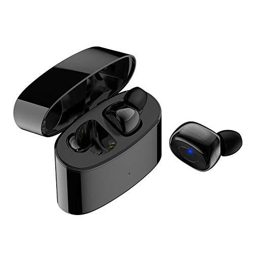 ZIXUAL Auricular bluetoothAuriculares Bluetooth, Auriculares Bluetooth Sport Wireless STREEO STREEO STREPARO, Auriculares inalámbricos ultraligeros Black