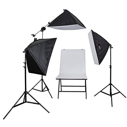 Life of Photo Aufnahmetisch-Set LED-5070-3, 3x60 W mit Studiotasche Beleuchtung für Produktfotografie