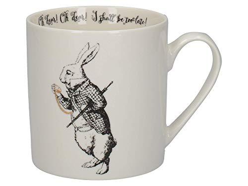 V&A Alice im Wunderland C000051 Tasse aus feinem Porzellan, in Geschenkbox, Weißes Kaninchen